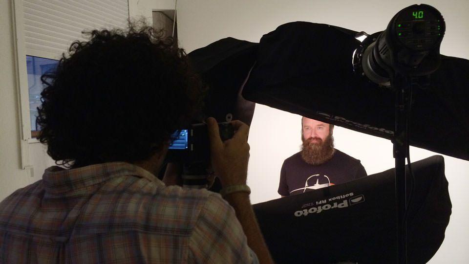 Peter Hurley photographing Hank Olsen